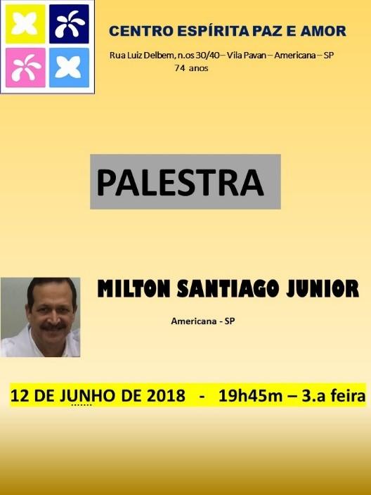 Palestra Milton Santiago